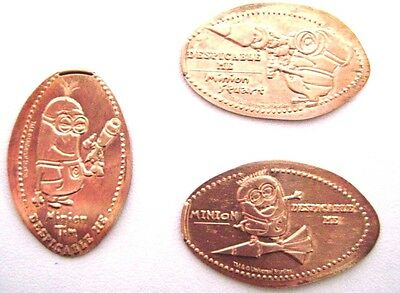 Elongated Pressed Penny - DESPICABLE ME - MINIONS Set of 3 - UNIVERSAL STUDIOS