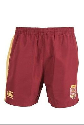 Queensland Maroons State Of Origin 2016 CCC Perforated Shorts Size S-3XL! NRL!