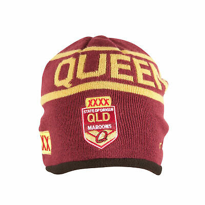 Queensland Maroons State Of Origin 2017 CCC Maroon Lined Beanie!