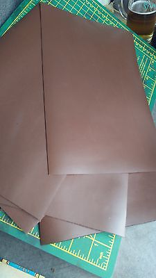 High quality Italian Cowhide Genuine Leather Dark Brown Thick (3 oz.) 1.2 mm.#16