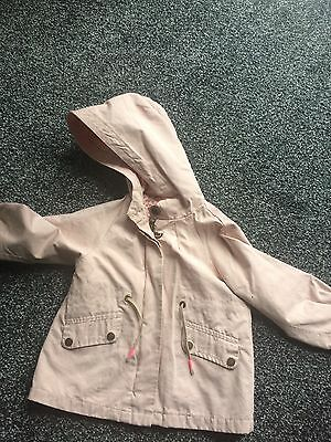 Baby Girls Zara Pink Lightweight Coat 12-18 Months