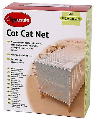Cot bed cat net. used once. Clippasafe