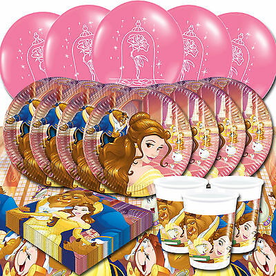 Disney Beauty and The Beast Party Supplies Tableware Kit For 8 16 or 24 Children