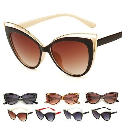 New Women's Vintage Retro Cat Eye UV400 Sunglasses Eyewear Shades Eye Glasses