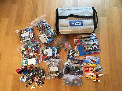 Assortment Of Lego Pieces And Lego Star Wars Bag