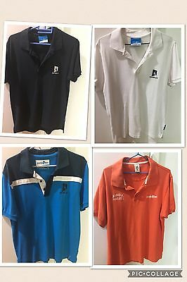AUSTRALIAN OPEN  POLO SHIRT  4 X Shirts (Medium) Package Deal The Lot