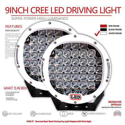 2X 9inch 7580W Cree Led  Spot Work Driving Light  OFFROAD high power white