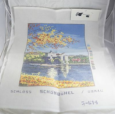 Unworked Tapestry Pattern Schloss-Schonbuhel Castle 5-614 River Scene