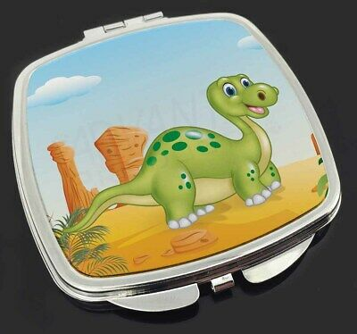 Childrens Dinosaur Make-Up Compact Mirror Stocking Filler Gift, DIN-2CM