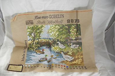 Unworked Tapestry Bremer-Goblin 8873 Paula Westoff Made in Germany River Scene
