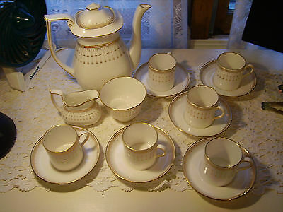 Spode England Bone China Queens Gate Y8052 Tea Coffee Set Service for Six EXC
