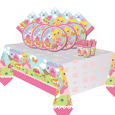 Woodland Princess Childrens Birthday Party Tableware Pack Kit For 8 or 16 Guests