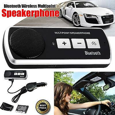 Wireless Bluetooth Handsfree Car Kit Speaker Phone Visor Clip for iPhone Android