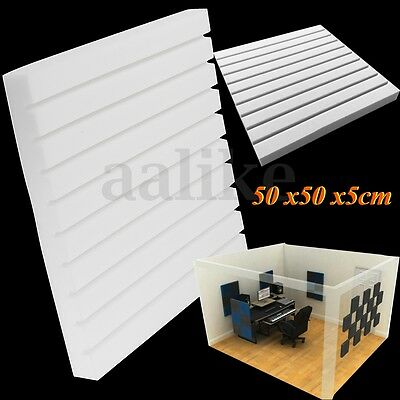 1pc Studio Acoustic Absorption Soundproofing Foam Wall Tiles 50x50x5cm White DIY