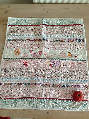 Mamas And Papas Quilted Embroidered Coverlet Pink Girls Beautiful