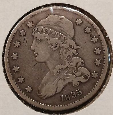 1835 Capped Bust Quarter Silver 25c