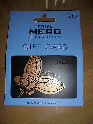 Caffe Nero Gift Card (£10 credit on gift voucher card)