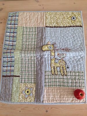 Mamas And Papas Quilted Embroidered Blanket / Coverlet Boys Blue