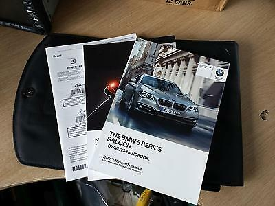Bmw 5 Series F10 Saloon Handbook Owners Manual Wallet 2013-2016 Pack