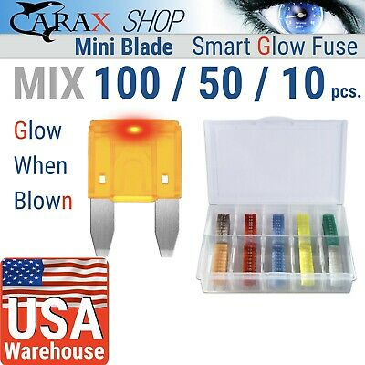 Fuses MINI small size blade smart fuse ATO ATC APM LED indicator GLOW WHEN BLOWN