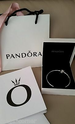Pandora Mother's Day 2017 Limited Edition Sterling Silver Bangle 19cm Medium