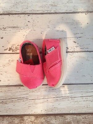 Baby Girl Toms Shoes Pink Size T2