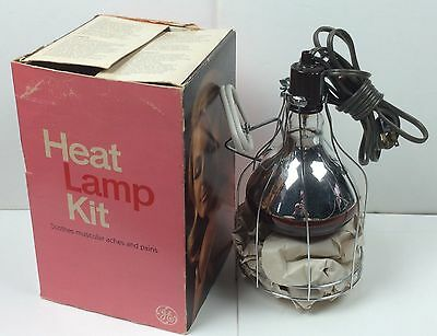 Vintage GE Heat Lamp Kit In Box With Working Bulb TESTED