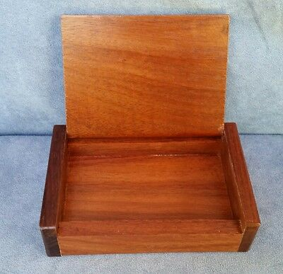 Small Wooden Trinket Box Storage Keepsake Jewelry Name Card Deck of Cards Holder