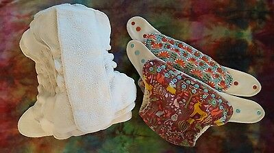 set of wool in 2 organic cloth diapers One Love Diaper Co.