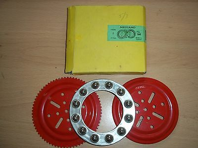 Meccano Vintage 168 Ball Thrust Bearing Complete RED With Box