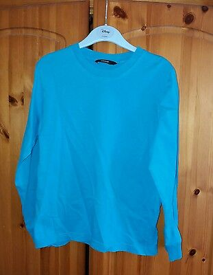 GEORGE Turquoise Long Sleeved T-shirt age 7-8 years