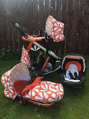 Cosatto Giggle 3 in 1 Sunny Travel System - Car Seat, Carrycot & Buggy Pushchair