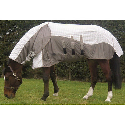 Mark Todd Air Mesh Combo Attached Full Neck Pony/horse Cotton Fly Rug/sheet