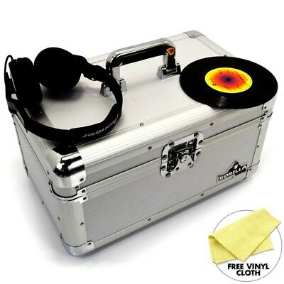 "Gorilla 7"" Singles Vinyl Records Carry Case Storage Box (Silver) Holds 200"