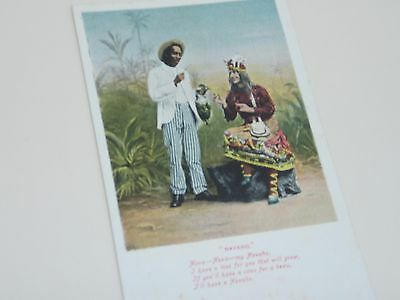 Native American Indian Navaho Costumed Character. Hand Tinted Postcard