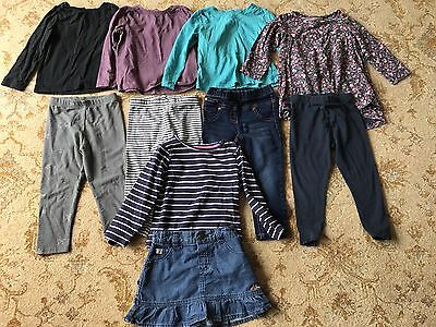 Girls Clothing Bundle x5 Outfits Age 18-24 Months Next, Mothercare & Manteray