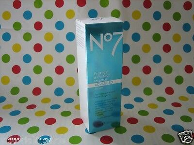 Boots No7 Protect & Perfect Intense ADVANCED Serum Pump 30ml New BNIB Boxed