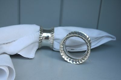 Napkin Rings  English Silver Plated Pair