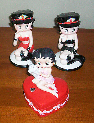 Betty Boop The San Francisco Music Box & Motorcycle Salt & Pepper Shakers
