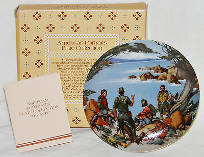 1985 Avon THE WEST American Portraits COLLECTOR PLATE w BOX Vintage SIGNED New