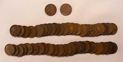 Roll Of 50 1912-P Lincoln Wheat Cents!!  Nice Coins!!