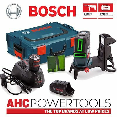 Bosch GCL250CGB Green Laser With Mount in L-Boxx (2 x 2Ah Batteries)