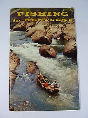 Old FISHING IN KENTUCKY Booklet Pamphlet 20 pages Lakes Streams Map Species NOAG