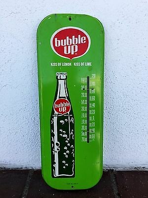 Original Vintage Bubble Up Soda Advertising Thermometer Sign