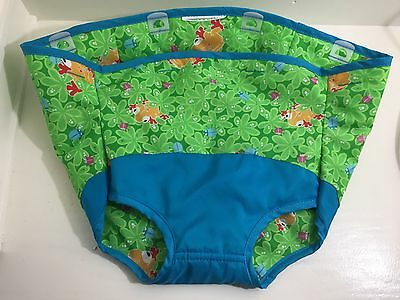 Evenflo Triple Fun Jungle Exersaucer Part Fabric Seat Cover Green Blue Frogs