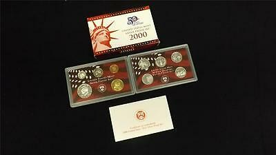 2000 S US Mint Silver Proof 10 Coin Set