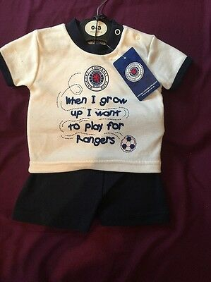 Baby Boys Rangers Shorts And T Short 0-3 Months