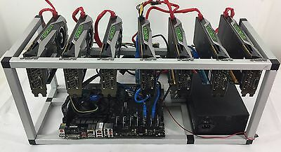 Crypto Coin Mining Rig 7x GTX1070 8GB ETH Ethereum 212 MH/s Zcash 2900 Sol/s ZEC