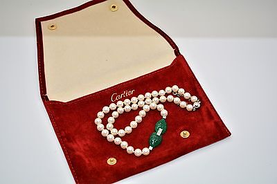 Cartier Cultured Pearl, Chrysoprase and Diamond Necklace