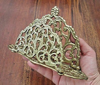 Ornate English Brass Art Nouveau Style Letter Rack - Absolutely Beautiful